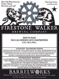 Firestone Walker Brewing Co. Bretta Rose Wild Ale