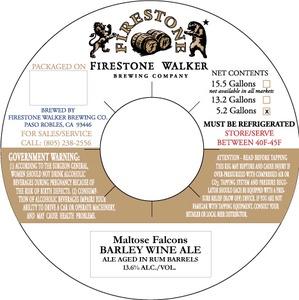 Firestone Walker Brewing Co. Maltose Falcons Barley Wine Ale