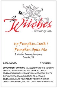 2 Witches Brewing Company Up Pumpkin Creek!