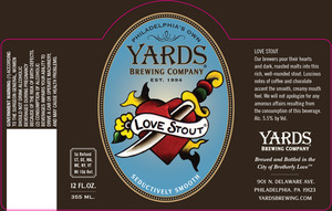 Yards Brewing Company Love Stout
