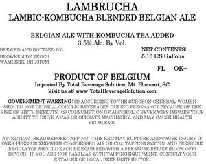 Lambrucha Lambic Kombucha Blended Belgian Ale