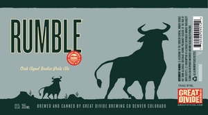 Great Divide Brewing Company Rumble October 2014