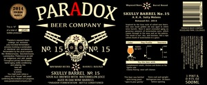 Paradox Beer Company Skully Barrel No. 15