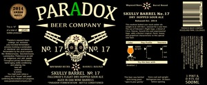 Paradox Beer Company Skully Barrel No. 17
