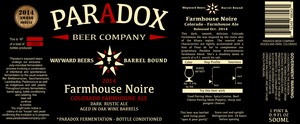 Paradox Beer Company Farmhouse Noire