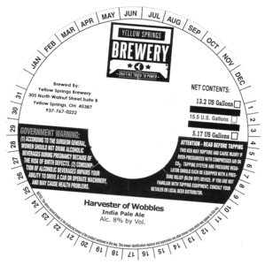 Yellow Springs Brewery Harvester Of Wobbles