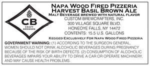 Napa Wood Fired Pizzeria Harvest Basil Brown