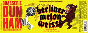 Brasserie Dunham Berliner Melon Weisse