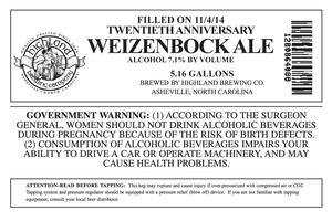 Highland Brewing Co. Twentieth Anniversary Weizenbock