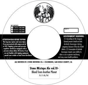 Stone Brewing Co Stone Mixtape Ale Vol.10