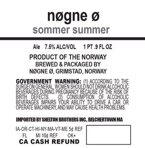 Nogne O Sommer Summer