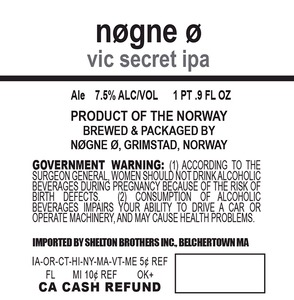 Nogne O Vic Secret IPA