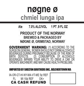 Nogne O Chmiel Lunga IPA