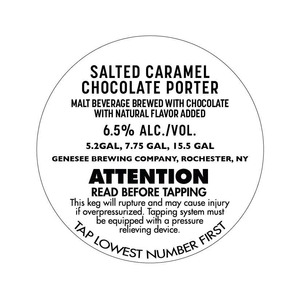 Genesee Brewing Company Salted Caramel Chocolate Porter
