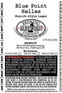Blue Point Helles