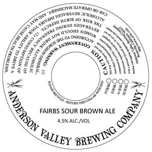 Anderson Valley Brewing Company Fairbs Sour Brown