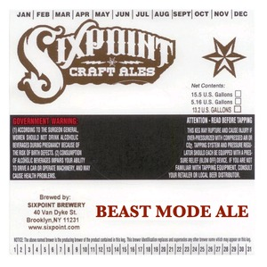 Sixpoint Craft Ales Beast Mode