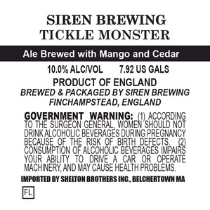 Siren Brewing Tickle Monster