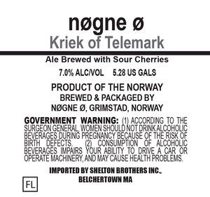 Nogne O Kriek Of Telemark