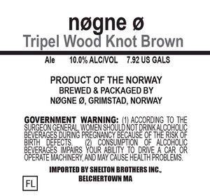 Nogne O Tripel Wood Knot Brown