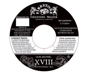 Firestone Walker Brewing Company Xviii Anniversary Ale