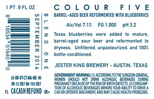 Jester King Brewery Colour Five