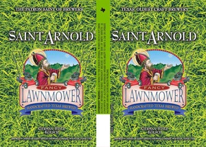 Saint Arnold Brewing Company Lawnmower