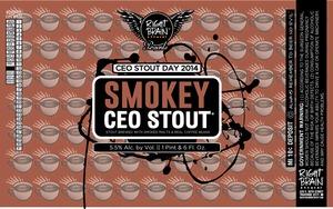 Right Brain Brewery Smokey Ceo Stout