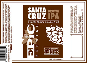 Epic Brewing Company Santa Cruz Brown IPA