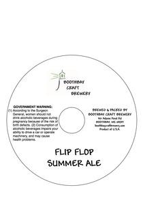 Boothbay Craft Brewery Flip Flop