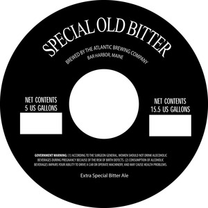 Special Old Bitter