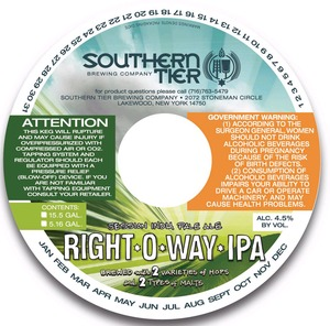 Southern Tier Brewing Company Right O Way IPA
