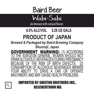 Baird Brewing Company Wabi-sabi