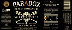 Paradox Beer Company Skully Barrel No. 18