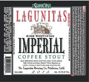 The Lagunitas Brewing Company High West-ified Imperial Stout