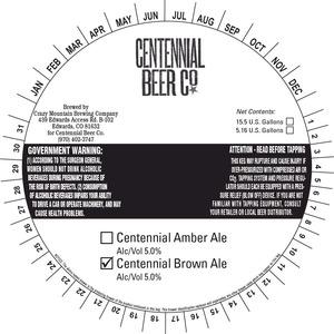 Crazy Mountain Brewing Company Centennial Brown December 2014