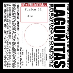 The Lagunitas Brewing Company Fusion 31
