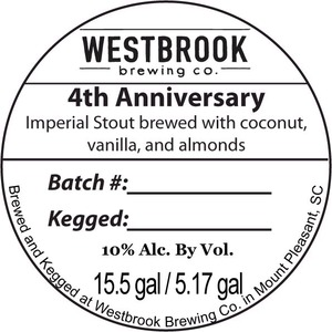 Westbrook Brewing Company 4th Anniversary