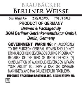 BraubÄcker Berliner Weisse