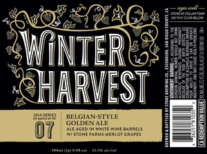 Stone Brewing Co Winter Harvest