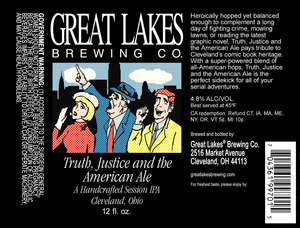 The Great Lakes Brewing Co. Truth, Justice And The American Ale
