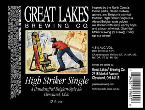 The Greaat Lakes Brewing Co. High Striker Single