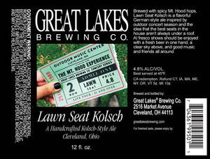 The Great Lales Brewing Co. Lawn Seat December 2014