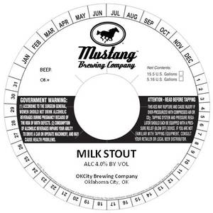 Mustang Brewing Company Milk Stout