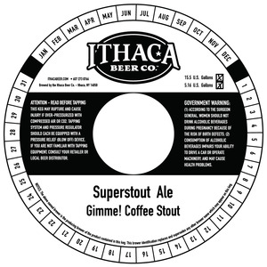 Ithaca Beer Company Superstout Ale Gimme! Coffee Stout