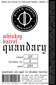 River North Brewery Whiskey Barrel Quandary