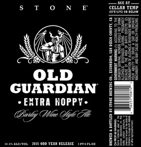 Stone Brewing Co Stone Old Guardian Extra Hoppy