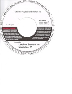 Lakefront Brewery Extended Play Session IPA