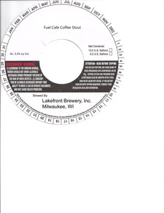 Lakefront Brewery Fuel Cafe Coffee Stout