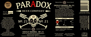 Paradox Beer Company Skully Barrel No. 21